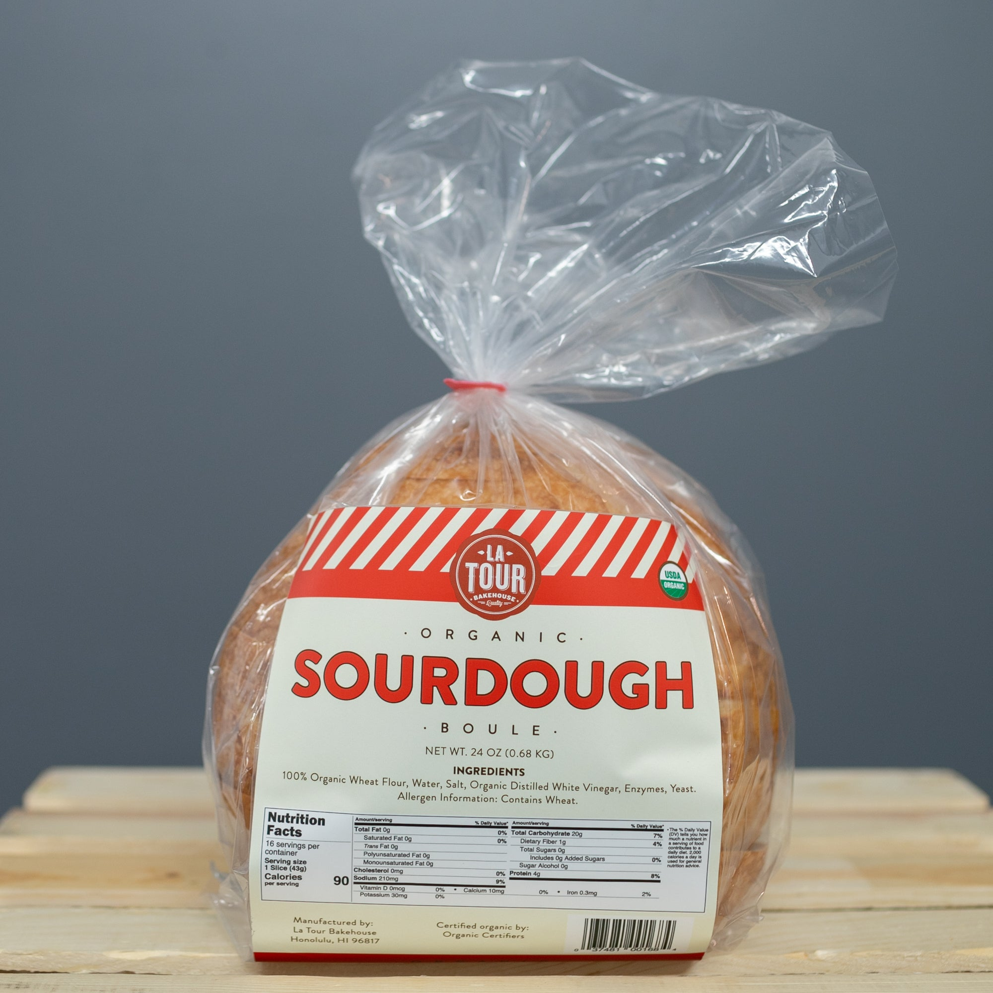 La Tour Bakehouse ORGANIC Sourdough - Sliced