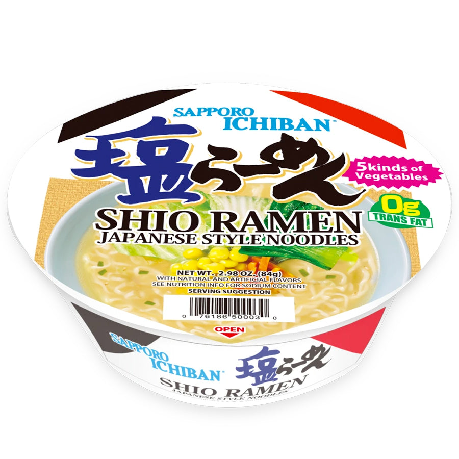 Authentic Japanese Cup Noodles Sapporo Ichiban Shio Ramen