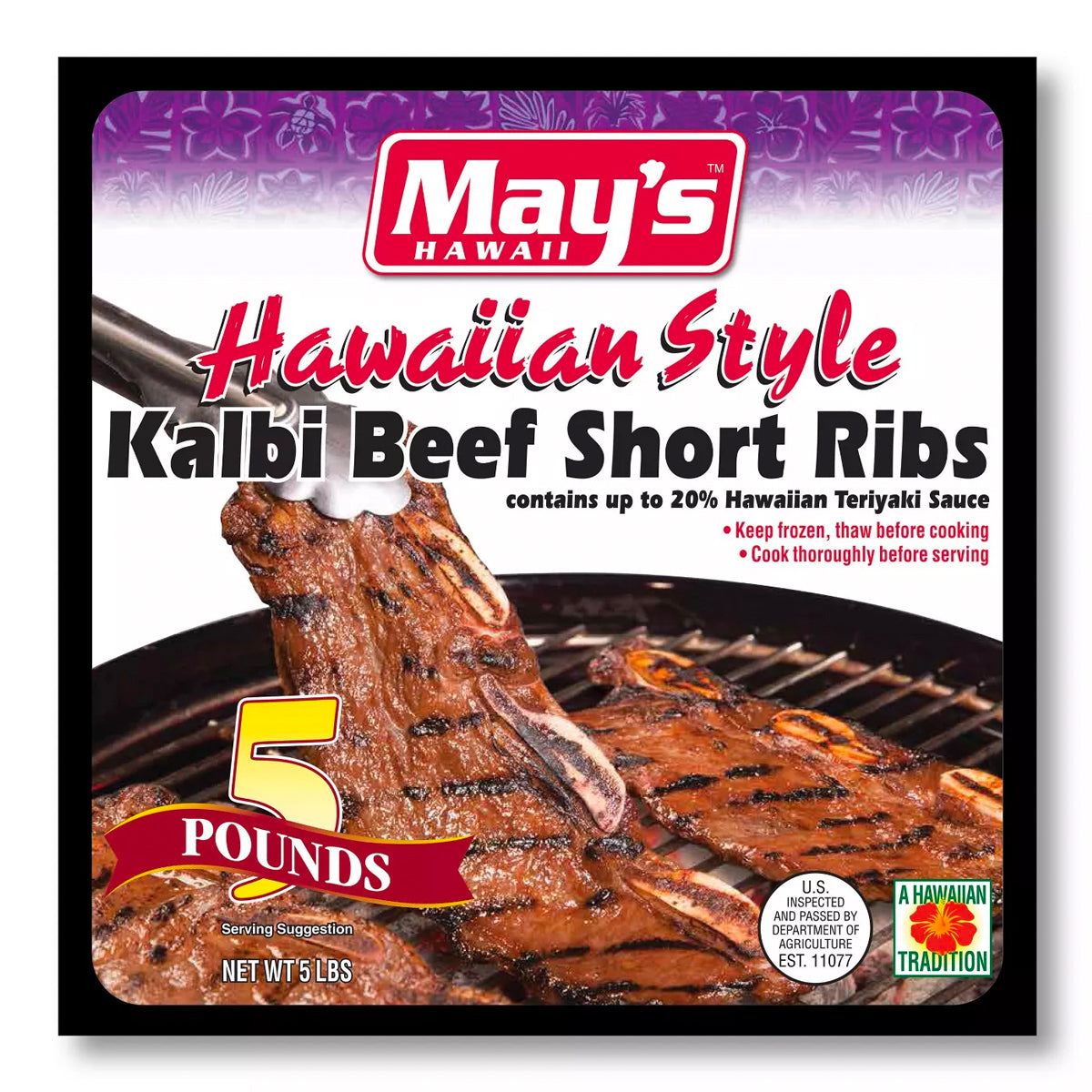 May's Hawaii Kalbi Frozen Beef Short Ribs (5lbs)