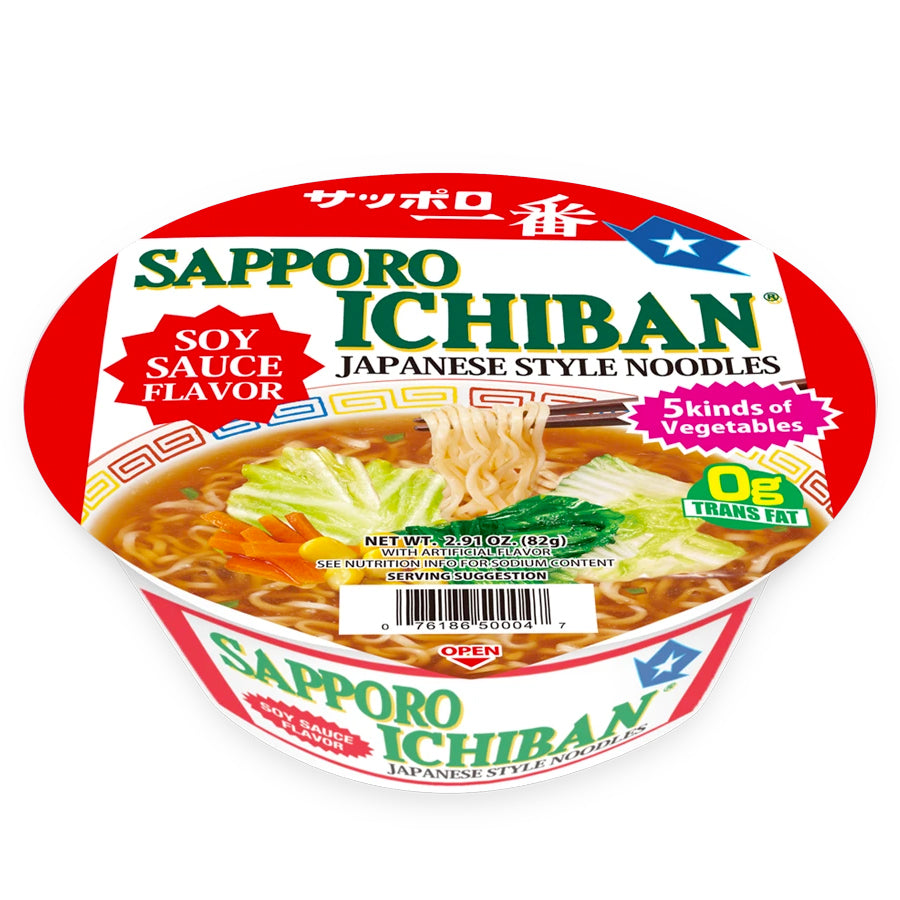 Authentic Japanese Cup Noodles Sapporo Ichiban Shoyu Ramen