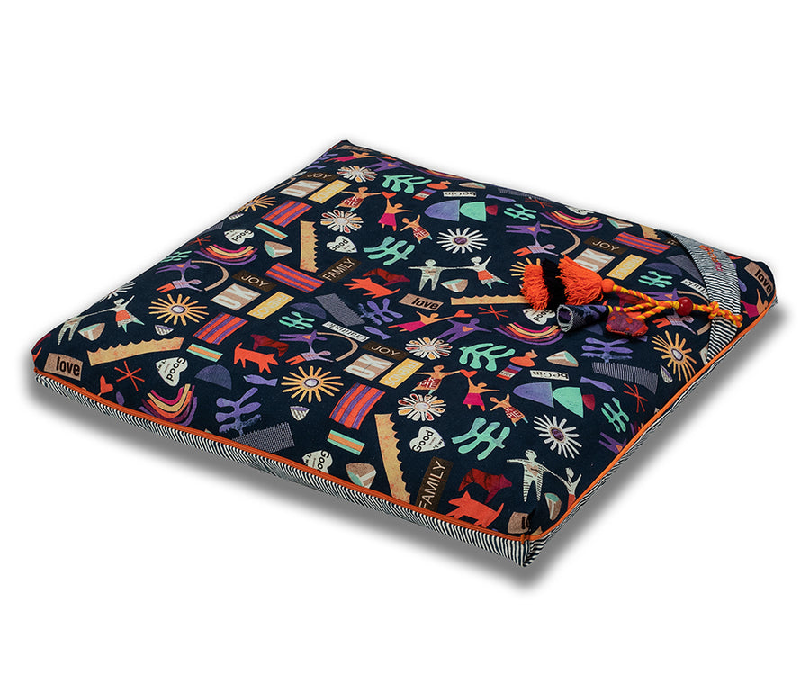 chattra kids Zabuton Meditation Cushion Midnight Village