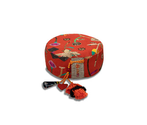 chattra kids Zafu Meditation Cushion in Coral Bean
