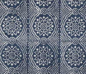 Navy Bandhani fabric
