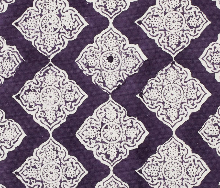 Plum Jali fabric