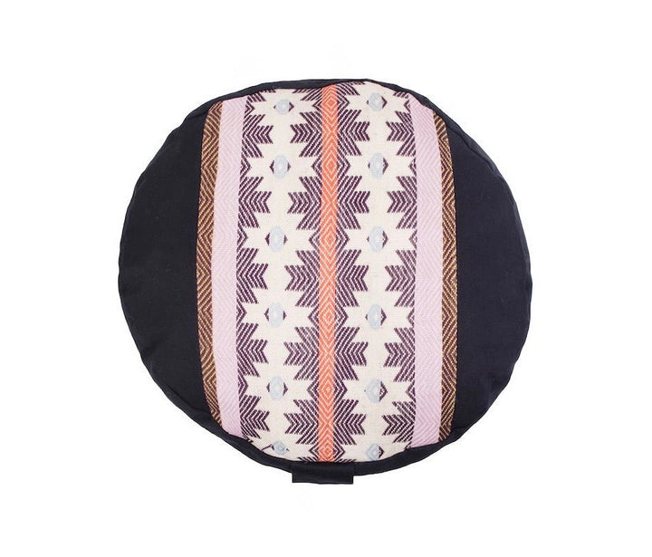 Awamaki Eggplant Zafu Meditation Cushion
