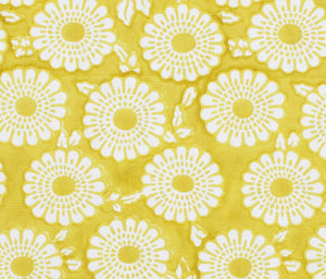 citron marigold fabric