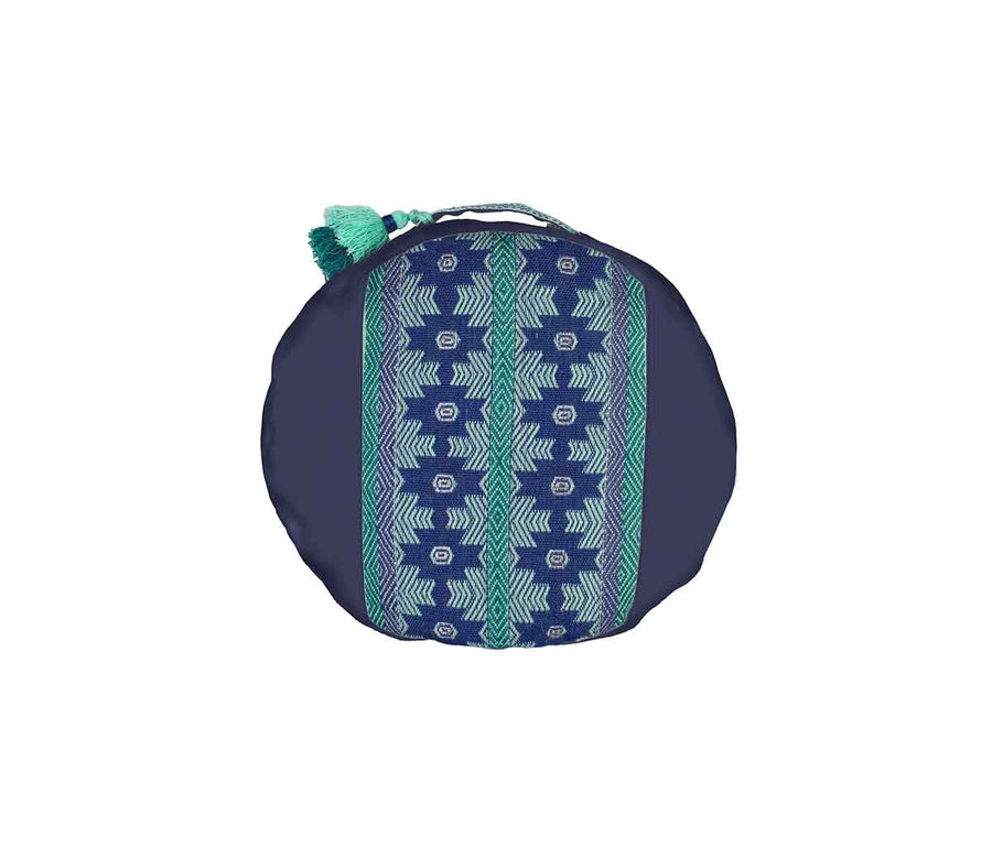 Zafu Meditation Cushion Awamaki Ocean on Navy