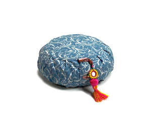 Zafu Meditation Cushion Sky Feather