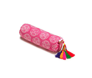 Fuchsia Suzani Neck Cushion