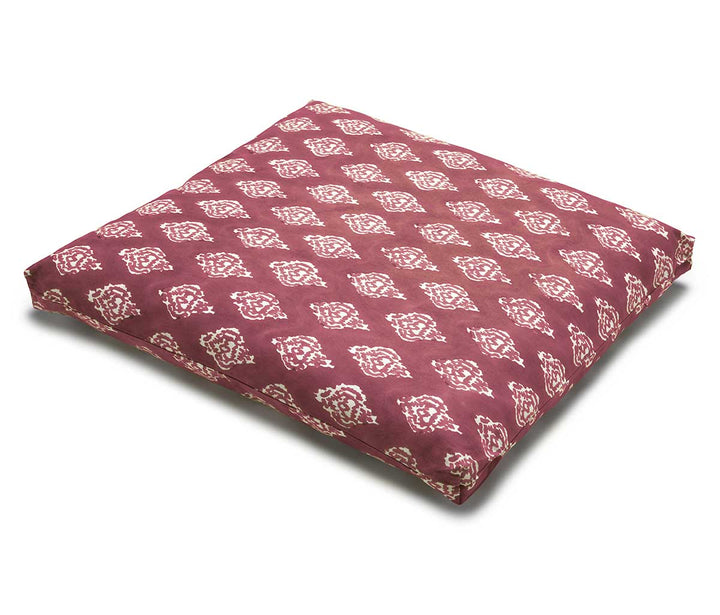 Garnet Ikat Zabuton Meditation Cushion