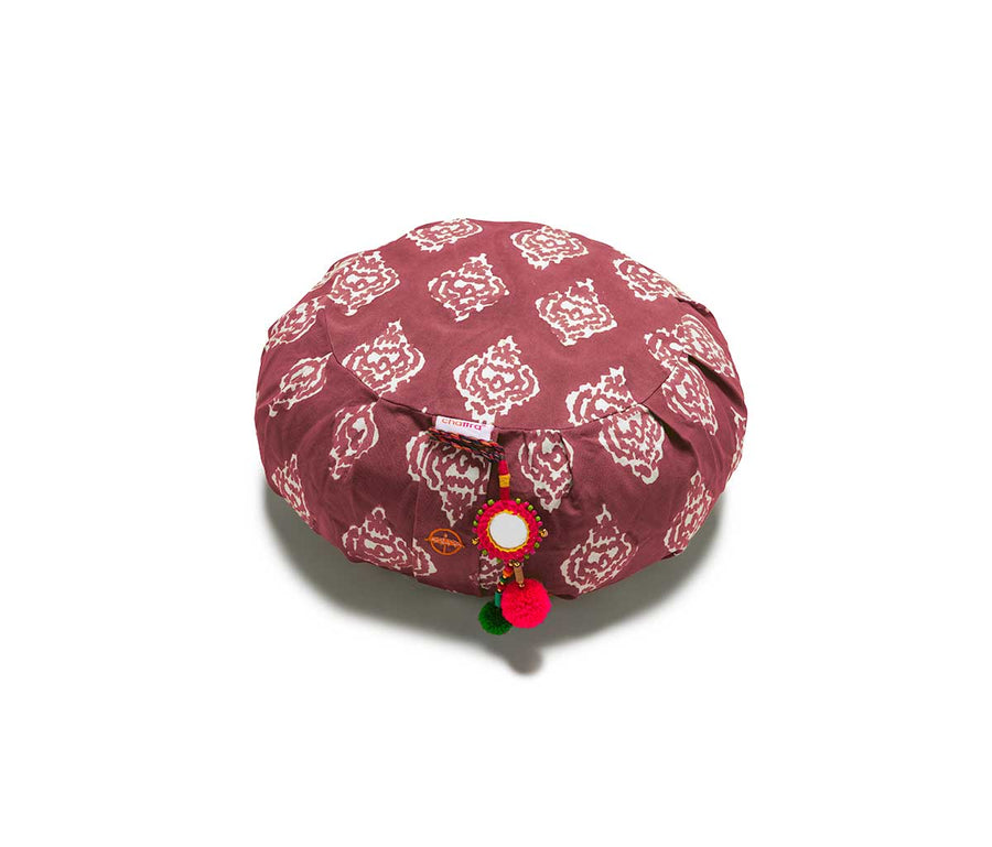 Garnet Ikat Zafu Meditation Cushion