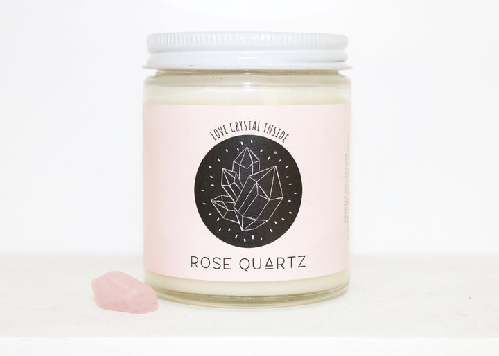 Soy Wax Candle -- Rose Quartz with lavender frangrance
