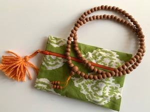 Sandalwood 108 Bead Meditation Mala with Pouch