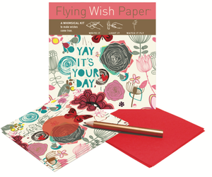 Flying Wish Paper -- Yay! It's Your Day design, 15 wish pack