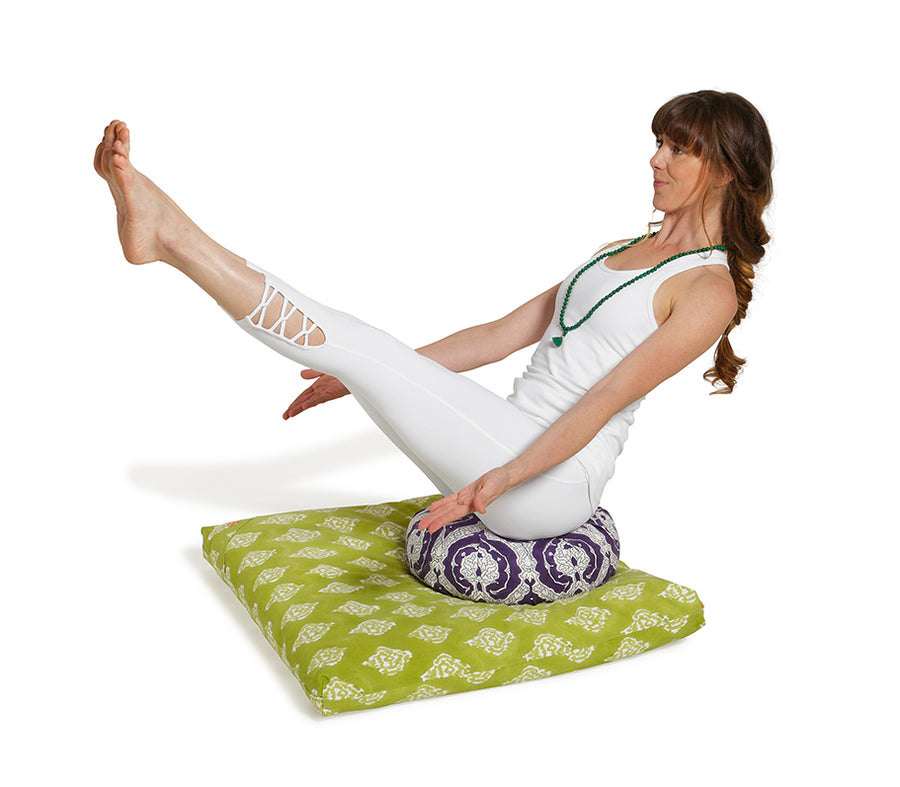 Zabuton Meditation Cushion Plum Jali