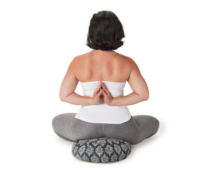 Zafu Meditation Cushion Charcoal Darpan