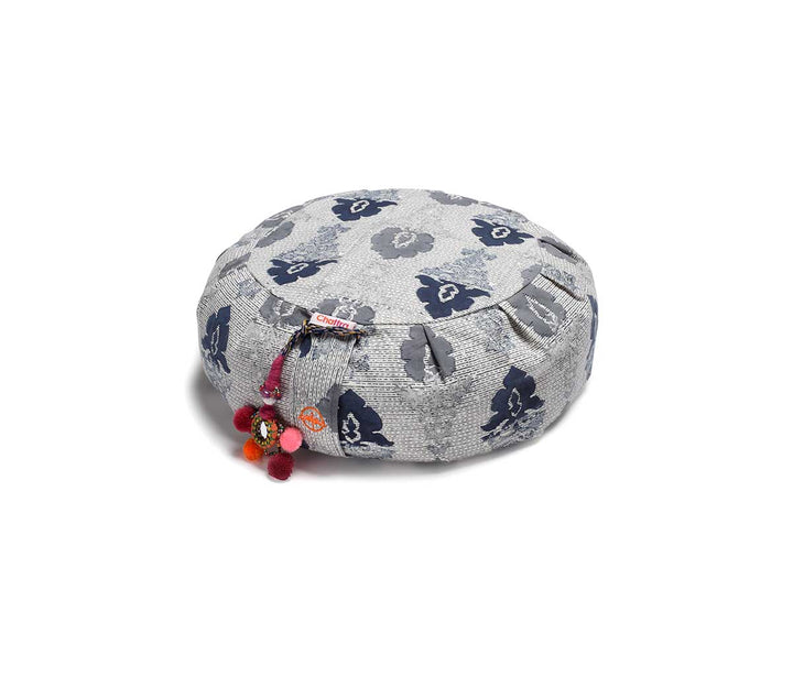 Zafu Meditation Cushion in Navy Monsoon