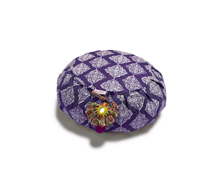 Zafu Meditation Cushion Plum Jali