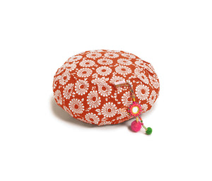 Zafu Meditation Cushion Pomegranate Marigold
