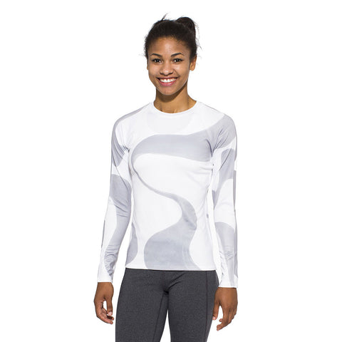 Women's UV Active Shirt, Ganges, grey on white