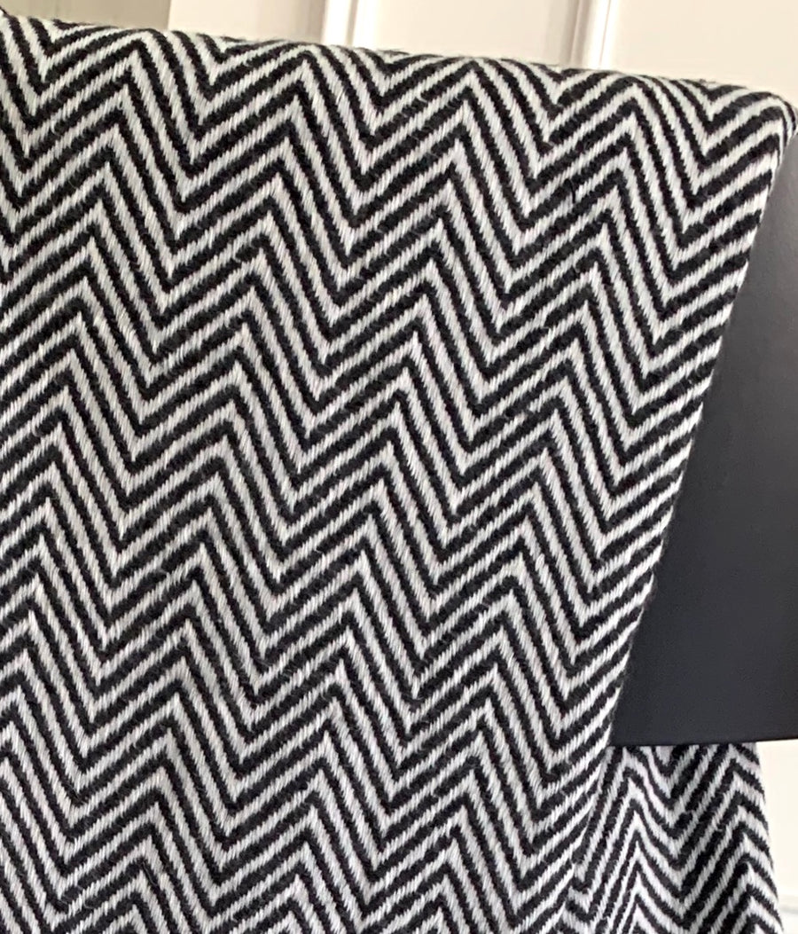 Under the Same Sky :: Giving Cashmere Blanket, black chevron