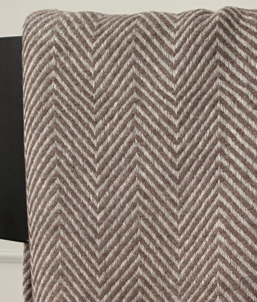 Under the Same Sky :: Giving Cashmere Blanket, brown chevron