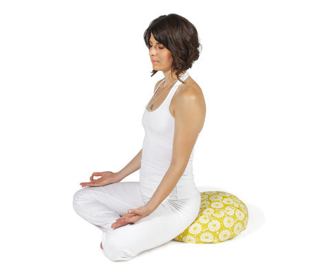 Citron Marigold Zafu Meditation Cushion