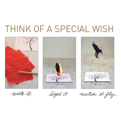 Flying Wish Paper -- Love Letters design, 15 wish pack