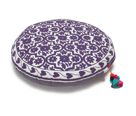 Plum Mughal Bagh Zafuton Meditation Cushion