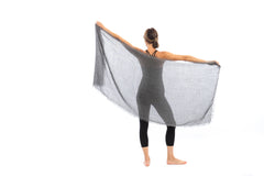 Alpaca Meditation Shawl - Charcoal