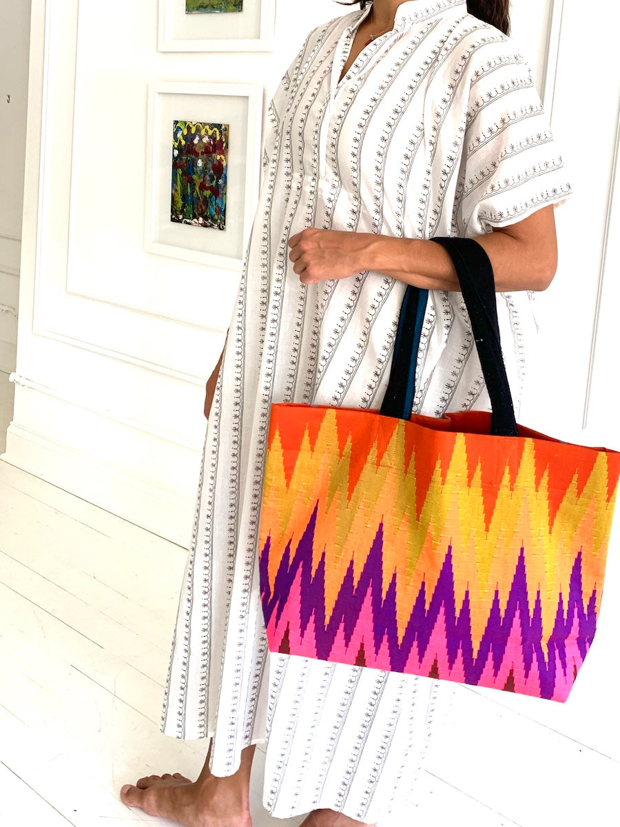 Under the Same Sky :: Giving Myanmar Tote, chevron study one