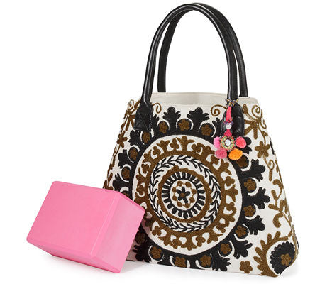 Black-Brown Suzani Tote Bag