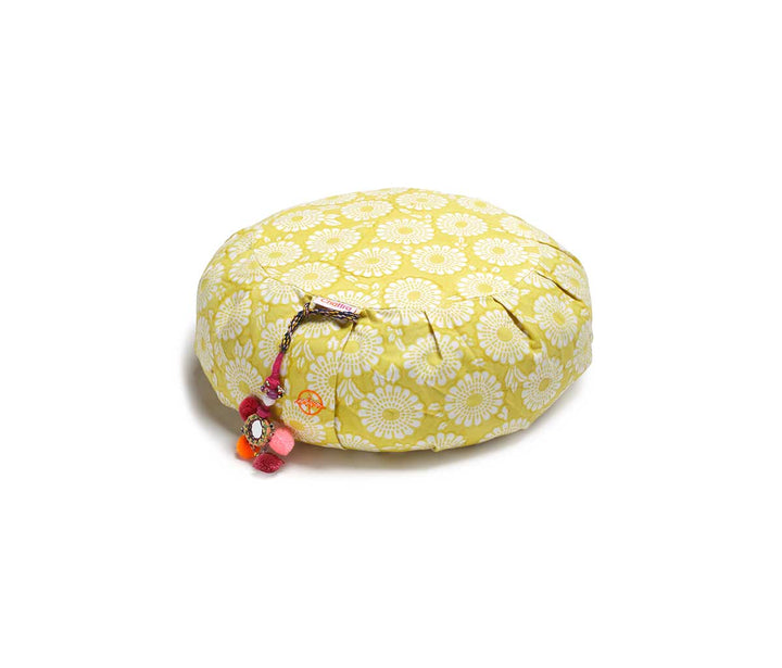 Zafu Meditation Cushion Citron Marigold