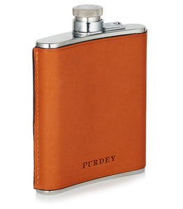 Purdey Leather Hand Stitched Flask