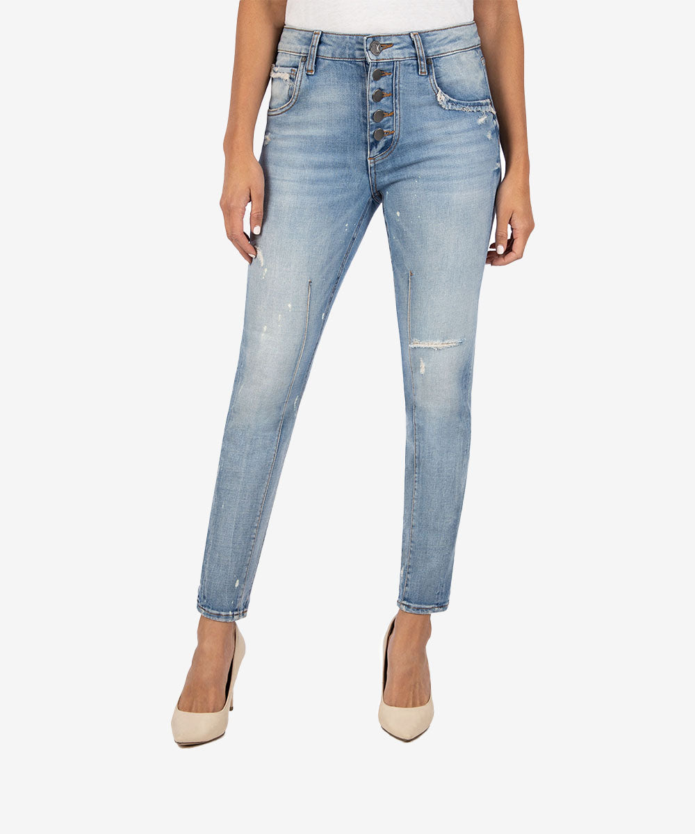 KUT From The Kloth Reese High Rise Ankle Straight Jean
