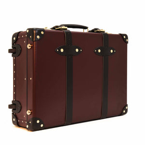 "Globe-Trotter Centenary - 20"" Trolley Case Oxblood/Black"