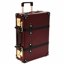 "Load image into Gallery viewer, Globe-Trotter Centenary - 20"" Trolley Case Oxblood/Black"