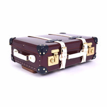 "Load image into Gallery viewer, Globe-Trotter The Goring - 20"" Trolley Case Oxblood/Navy/Ivory"