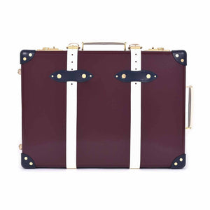 "Globe-Trotter The Goring - 20"" Trolley Case Oxblood/Navy/Ivory"