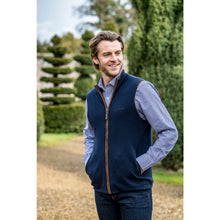 Load image into Gallery viewer, Schoffel Men - Reversible Merino/Cashmere Gilet in Navy/Charcoal