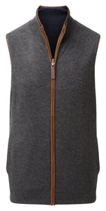 Schoffel Men - Reversible Merino/Cashmere Gilet in Navy/Charcoal