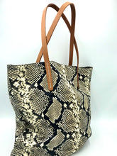 Load image into Gallery viewer, Homers - Snake Print Leather Tote