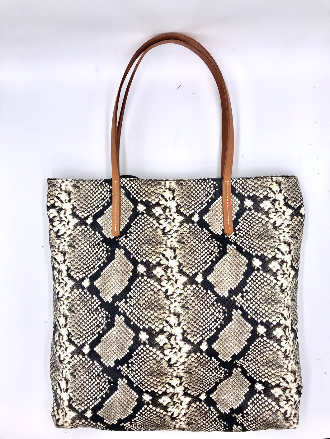 Homers - Snake Print Leather Tote