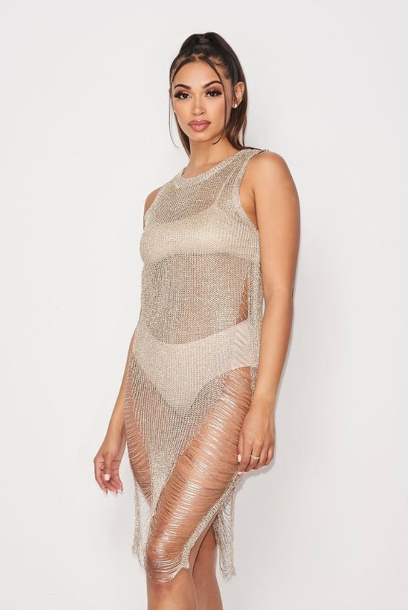 All That Glitters Cover-Up Net - Swim and Beachwear For Ladies 2020