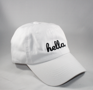 Hella Dad Hat - Ladies White Cap Fashion 2020 - Moodempireclub.com