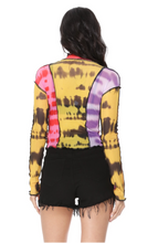Load image into Gallery viewer, Color Me Wild Top - Beautiful High Neck Full Sleeves Top Fashion 2020