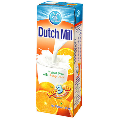 Dutch Mill Yoghurt Drink with Orange Juice 180ml