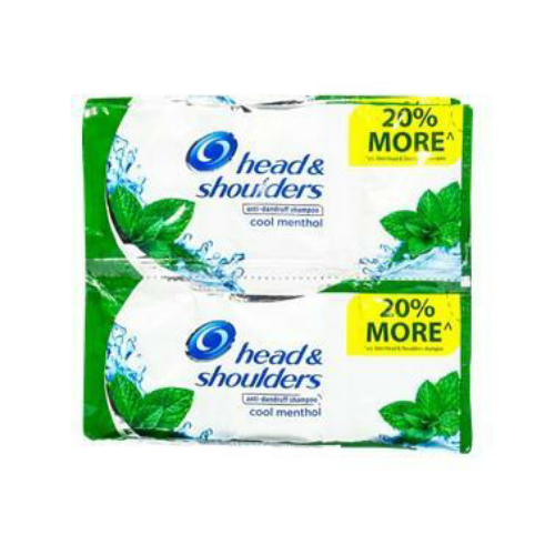 Head & Shoulder Shampoo Cool Menthol 12ml 6pcs