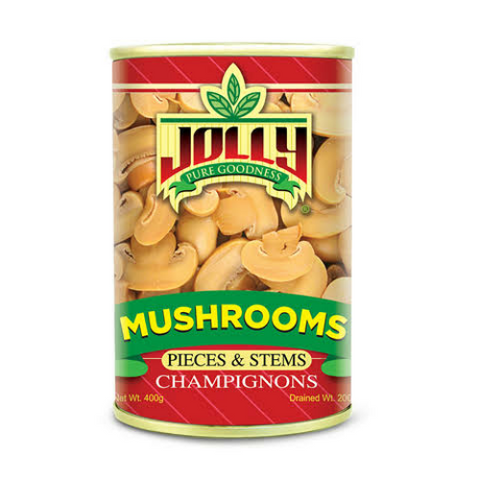 Jolly Mushroom Pieces and Stems 400g