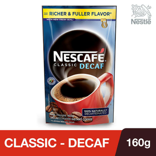 Nescafe Classic Decaf Resealable 160g